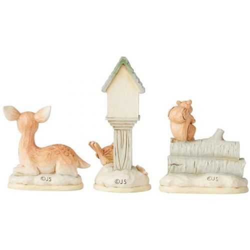 Heartwood Creek White Woodland Mini Accessory Set of 3 Animal Figurines 6004169 by Jim Shore