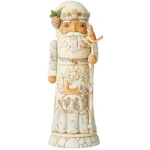 Heartwood Creek White Woodland Nutcracker Figurine - Santa