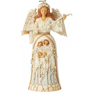 Heartwood Creek White Woodland Angel Figurine - Nativity