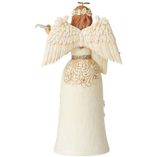 Heartwood Creek White Woodland Breath of Heaven Nativity Angel Figurine 6004173 by Jim Shore