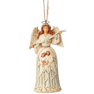 Heartwood Creek White Woodland Hanging Ornament - Nativity Angel