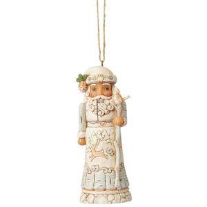 Heartwood Creek Hanging Ornament - White Woodland Nutcracker Santa
