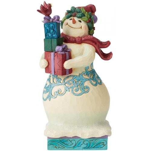 Heartwood Creek Share Some Love Winter Wonderland Snowman with Gifts