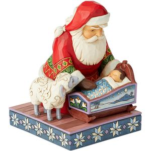 Heartwood Creek Even Kings Need Tucking In (Santa with Baby Jesus) Figurine
