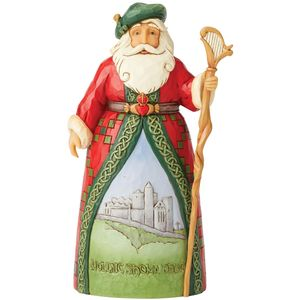 Heartwood Creek Santa Figurine - Celtic Christmas Greetings (Irish Santa)
