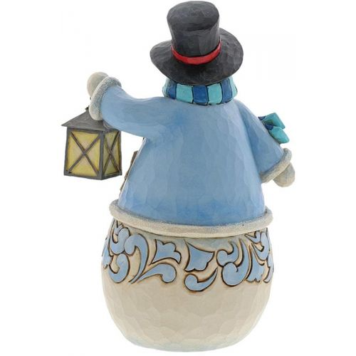 Heartwood Creek Snowman Figurine Calm is Bright Smowman with Village Scene 6004141 by Jim Shore