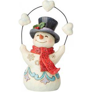 Heartwood Creek Snowman Figurine (Pint Size) - Juggling Snowballs