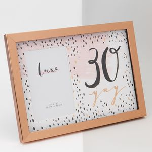 "Hotchpotch Luxe Rose Gold Birthday Photo Frame 4x6"" - 30 (Female)"