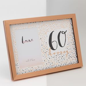 "Hotchpotch Luxe Rose Gold Birthday Photo Frame 4x6"" - 60 (Female)"