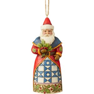 Heartwood Creek Hanging Ornament - Santa with Holly