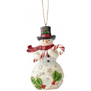 Heartwood Creek Hanging Ornament Snowman & Candy Cane