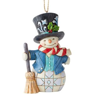 Heartwood Creek Hanging Ornament Snowman with Top Hat
