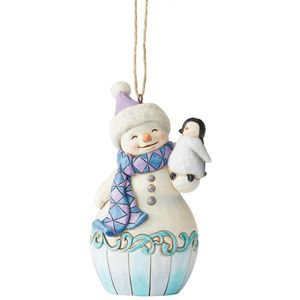 Heartwood Creek Hanging Ornament Snowman & Baby Penguin