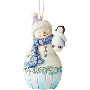 Heartwood Creek Hanging Ornament - Snowman with Baby Penguin