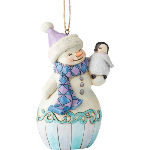 Heartwood Creek Hanging Ornament Snowman & Baby Penguin 6004314