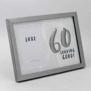 Luxe Birthday Male Gun Metal Frame 4 X 6