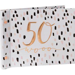 Luxe Birthday Guest Book & Photo Album - 50