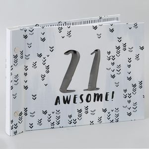 Hotchpotch Luxe Birthday Photo Album & Guest Book - 21(Male)