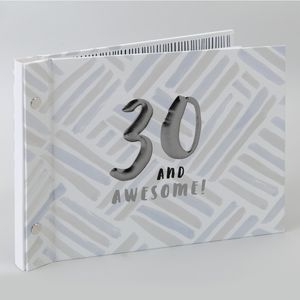 Hotchpotch Luxe Birthday Photo Album & Guest Book - 30 (Male)