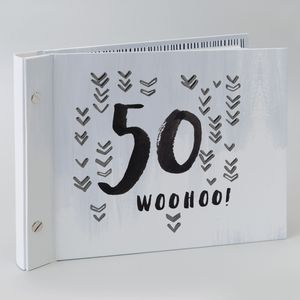 Hotchpotch Luxe Birthday Photo Album & Guest Book - 50 (Male)