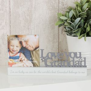 "Celebrations Photo Frame - 4"" x 4"" - Love You Grandad"