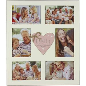 Love Life 6 Aperture Collage Photo Frame - Family