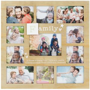Celebrations Love Life 11 Aperture Collage Photo Frame - Family