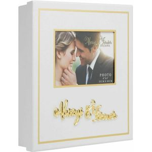Juliana Always & Forever White & Gold Wedding Keepsake Box - Always & Forever