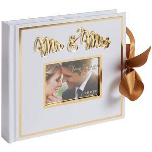"""Always & Forever Mr & Mrs Gold Foil Photo Album 6"""" x 8"""""""
