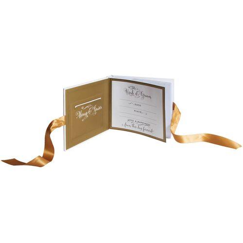 """Mr & Mrs Always & Forever Gold Foil Photo Album 6"""" x 8"""""""