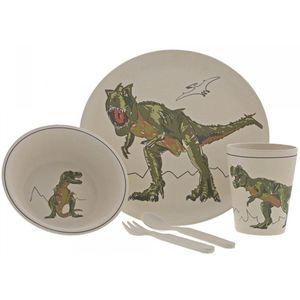 Dinosaur Roar-Some Organic Bamboo Dinner Set