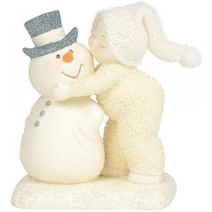 Snowbabies a Kiss for the Man I Love Figurine