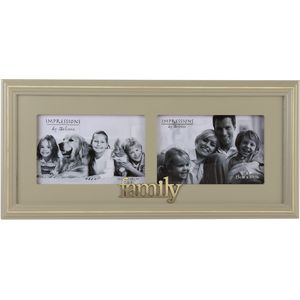 "Wooden Double Photo Frame 6"" x 4"" - Family"