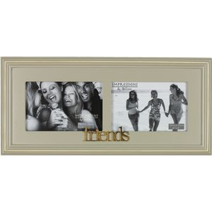 "Wooden Double Photo Frame 6"" x 4"" - Friends"