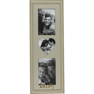 Wooden Triple Photo Frame - Family