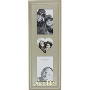 Wooden Triple Photo Frame - Grandkids
