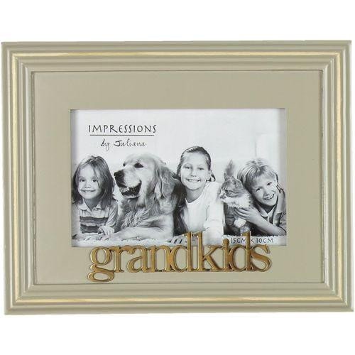 """Wooden Photo Frame 6"""" x 4"""" - Grandkids"""