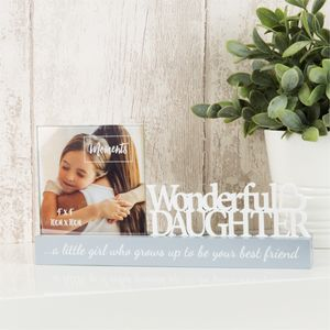 "Celebrations Photo Frame - 4"" x 4"" - Wonderful Daughter"