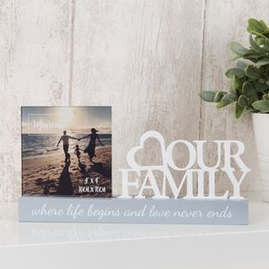"Celebrations Photo Frame - 4"" x 4"" - Family"