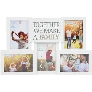 Collage Photo Frame With Metal Words - Family