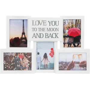 Collage Photo Frame With Metal Words - Love