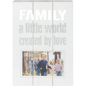 "Panel Photo Frame Family 6"" x 4"""