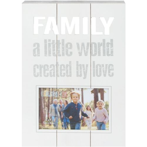 "Panel Photo Frame Family 6"" x 4"""