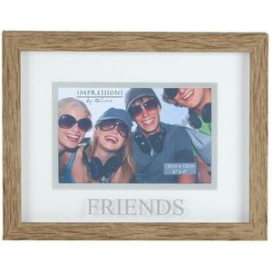 "Natural Wood Effect Photo Frame 6x4"" - Friends"