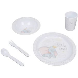 Disney Magical Beginnings 5 Piece Melamine Crockery Set - Dumbo
