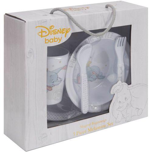 Disney Magical Beginnings 5 Piece Melamine Crockery Set - Dumbo