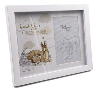 "Disney Magical Beginnings Photo Frame 4x6""- Granddaughter (Bambi)"