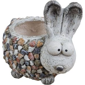 Country Living Mosaic Polystone Planter - Rabbit