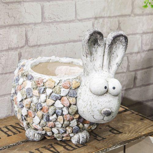Country Living Mosaic Polystone Planter - Rabbit