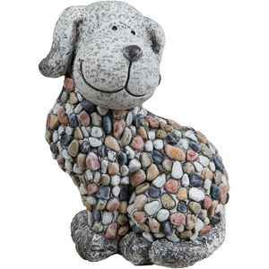 Country Living Mosaic Polystone Garden Ornament - Dog